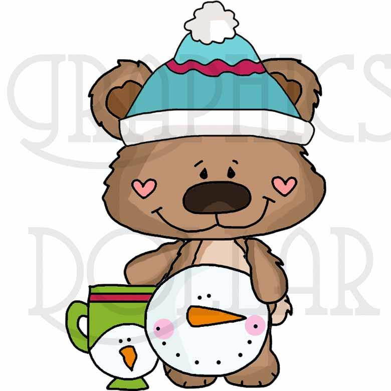 Winter Wonderland Boppy Bear Clip Art