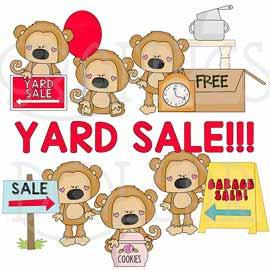Yard Sale Scruffy Monkey Clip Art