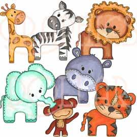 Zoo Baby Animals Clip Art